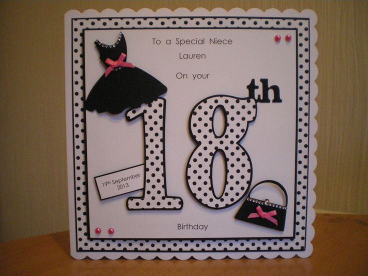The 18th Birthday Card With Dresses And Handbags