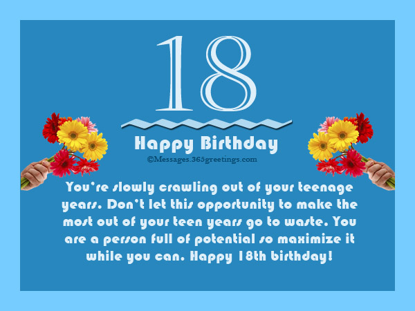18th birthday wishes messages and greeting cards 9 happy birthday 17 a person full of potential so maximize m4hsunfo