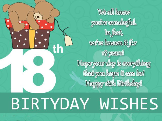 18th Birthday Wishes, Messages and Greeting Cards - 9 Happy