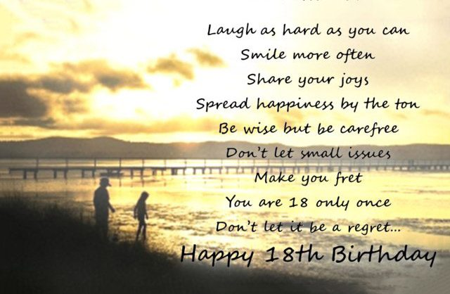 18th Birthday Wishes Messages And Greeting Cards