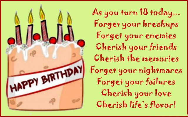 18th Birthday Wishes Messages And Greeting Cards 9 Happy 18th Birthday Wishes For