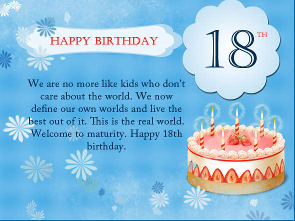 Welcome To The World Of Fun And Hold Let All Your Imagination Dream Come True I Wish You An 18 Year Old Happy Birthday