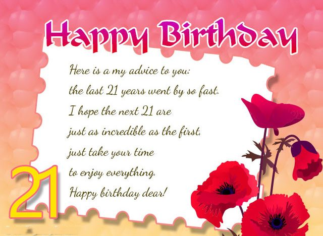 Happy Birthday Message Dear ~ Happy st birthday wishes messages and cards