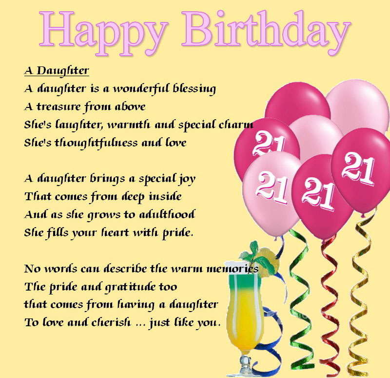 Happy Birthday Wishes And Messages A Daughter