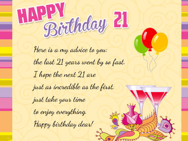 A Wish For Your 21st Birthday