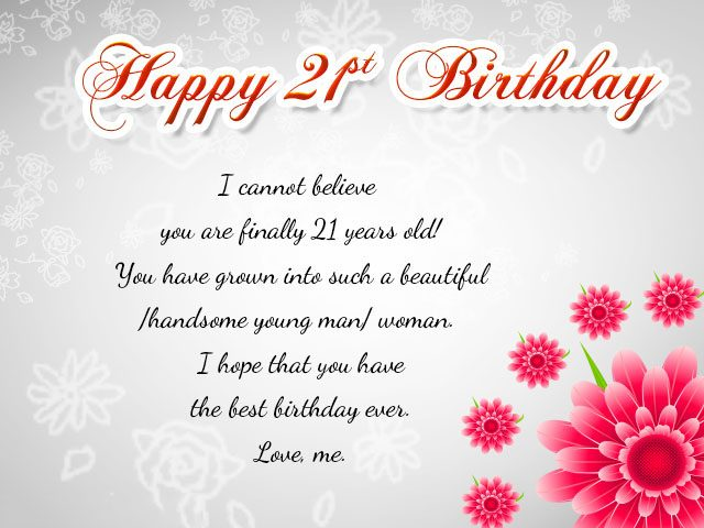 Happy 21st Birthday Wishes Messages and Cards 9 Happy Birthday – Son 21st Birthday Cards