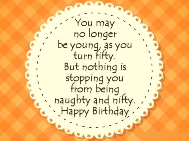 Funny 50th Birthday Wishes Greeting Card For Turning Fifty Years Old