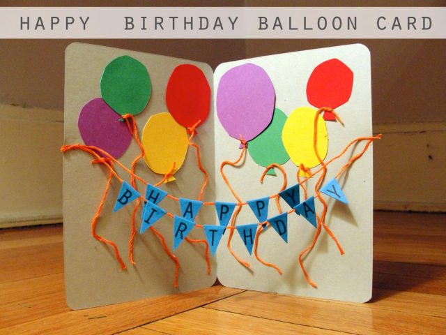 A Lot Of Balloons On This Card Dont You Think Is Simple But Also Great Idea For Your Mom Birthday Try And Make Her Surprised