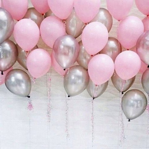These pink balloons are not only for girls but also for everyone who loves peace.