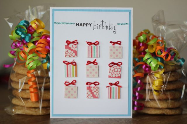 Top 30 cool birthday card ideas and images 9 happy birthday a simple birthday card idea with a lot of presents on it could also become really meaning to your friend because you have made it for her bookmarktalkfo Images