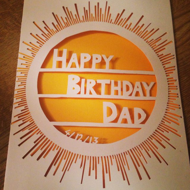 Birthday Card Ideas For Dad