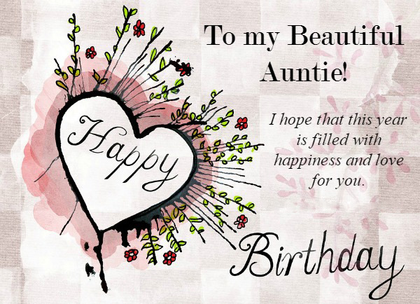 All I Want Is Wishing You A Happy And Warm Birthday Aunt