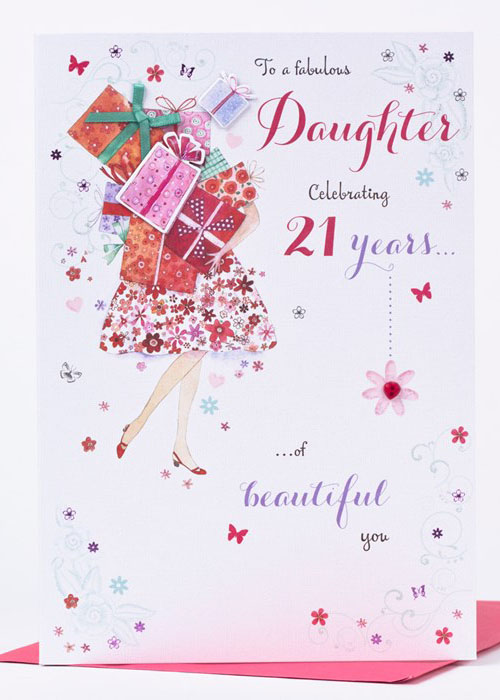 To A Fabulous Daughter Celebrating 21 Years