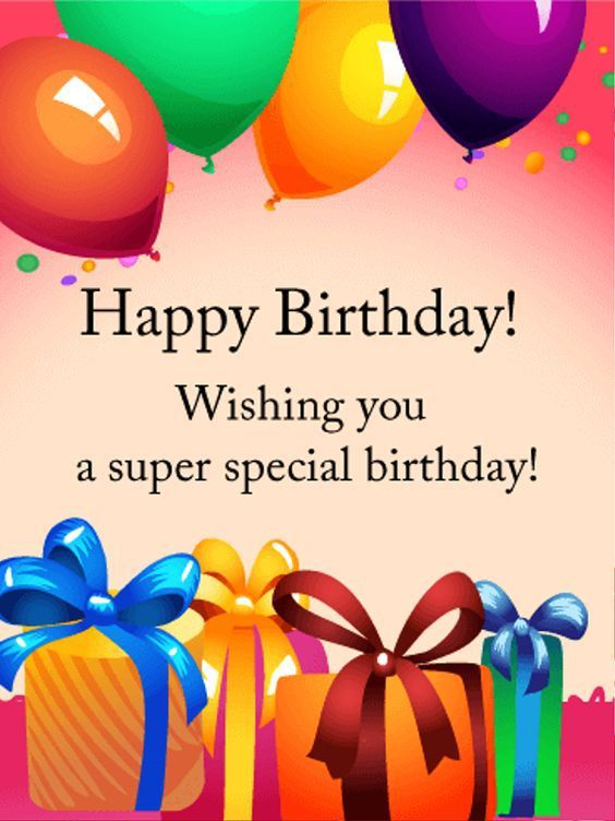 Wishing You A Super Special Birthday
