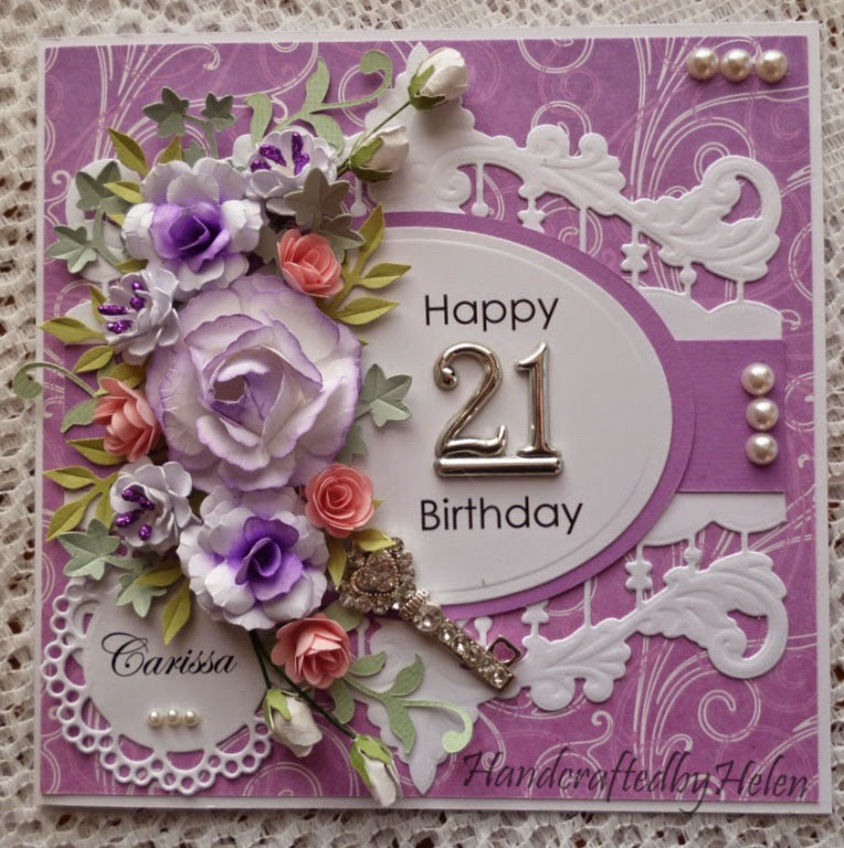 Special Flower On Happy 21 Birthday Card