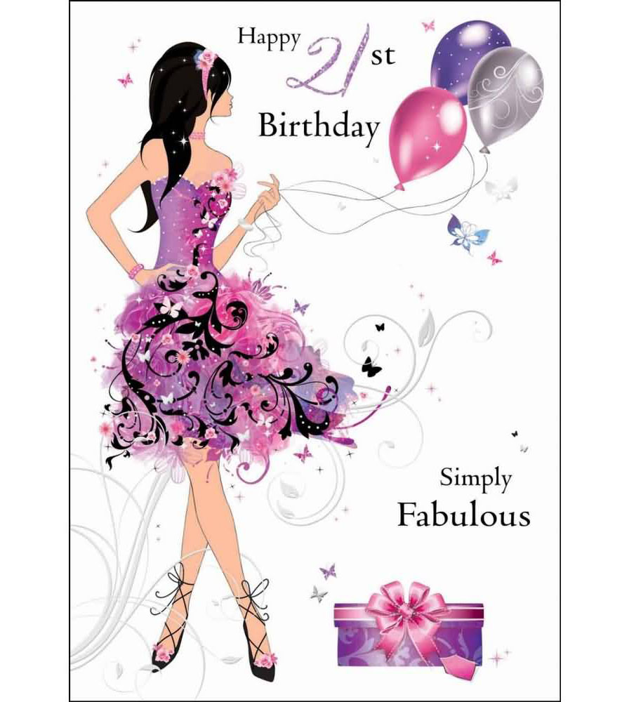 Cute Cards For A Girl On 21st Birthday