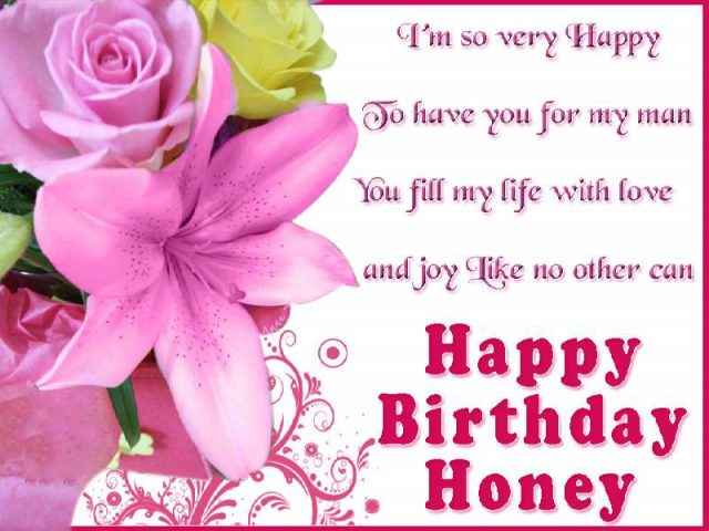 I Hope My Husband Will Be Healthy And Happy A Lovely Birthday Dear