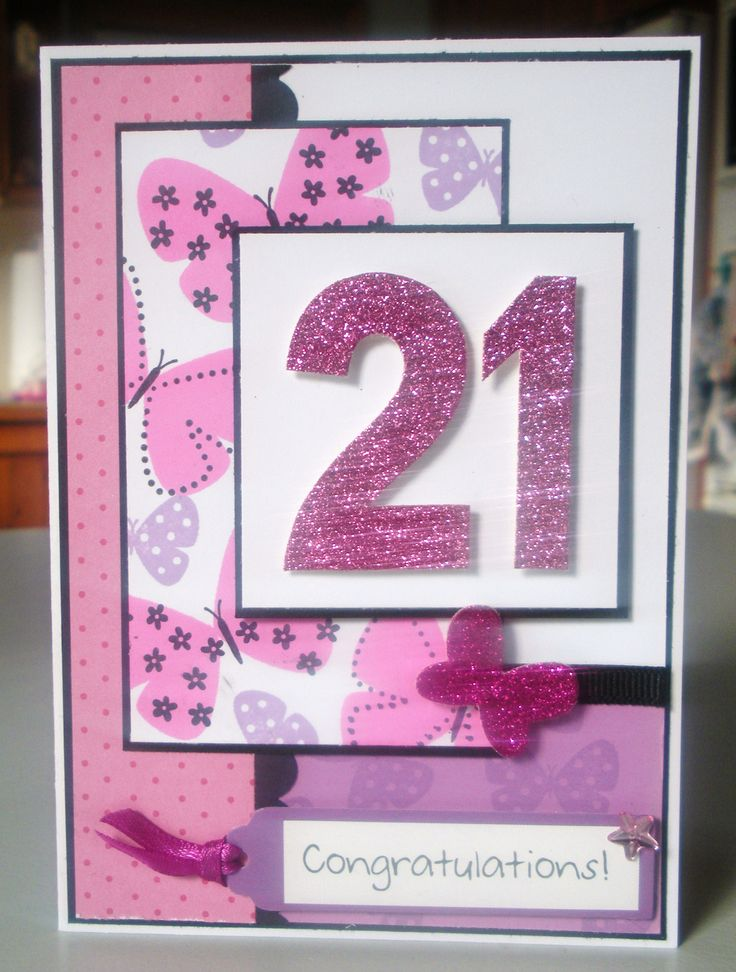 Big Simple Birthday Cards For 21st