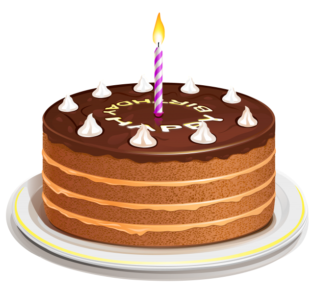 3D Birthday Cake Clipart
