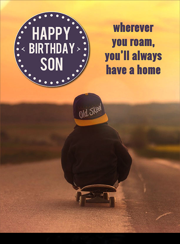 A Birthday Wishes for Son with Images