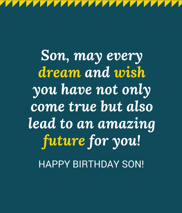 Amazing Birthday Wishes for Son with Images