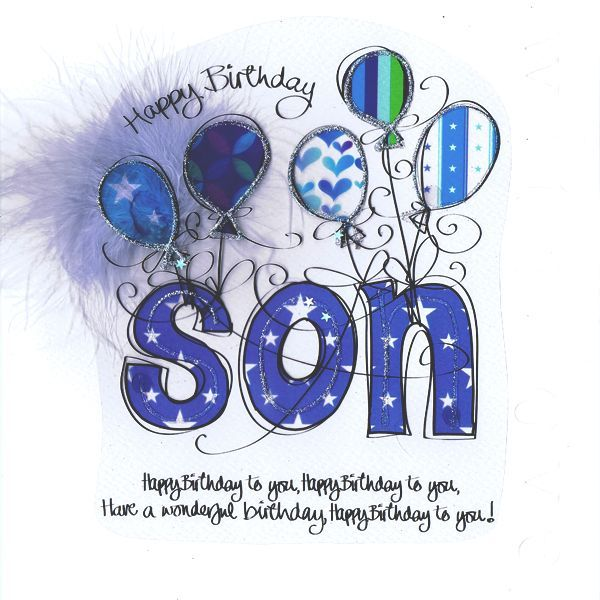 Art Birthday Wishes For Son With Images