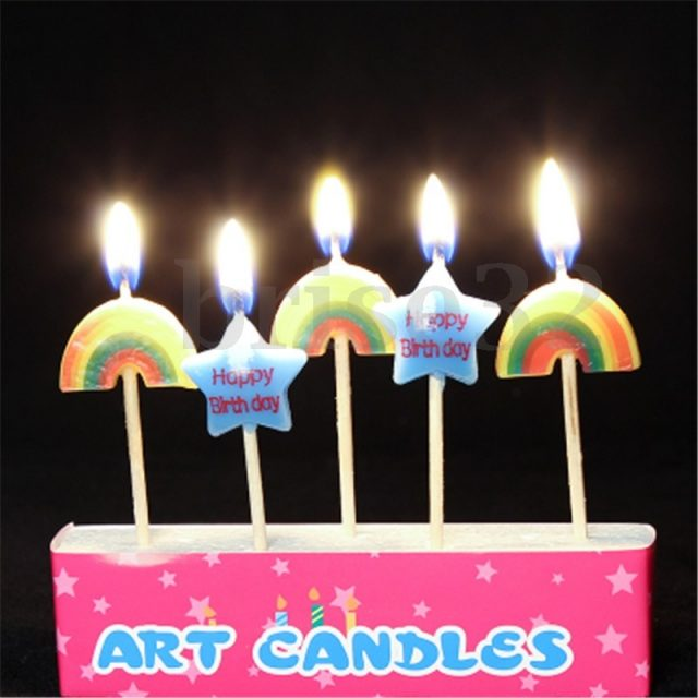 Art Happy Birthday Candles