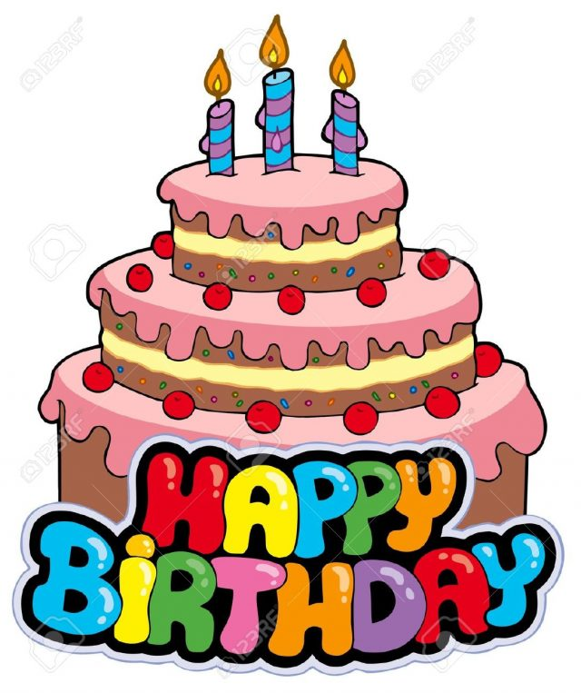 Big Birthday Cake Clipart