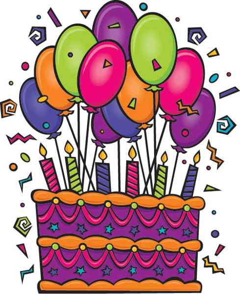 Birthday Cake And Balloons Clipart