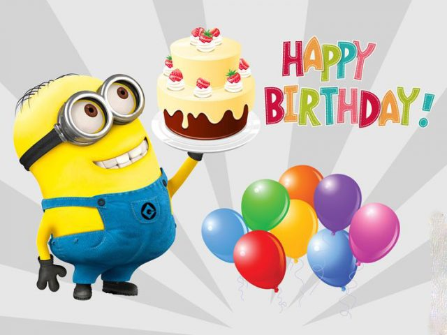 Birthday Ecards Image with minions