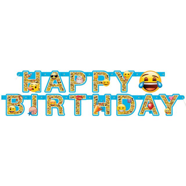 Birthday Emoji banner