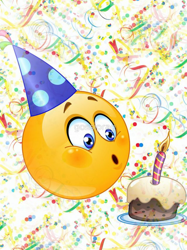 Birthday Emoji – blowing candles