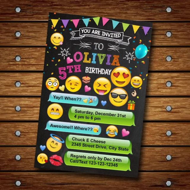 Birthday Emoji invitation