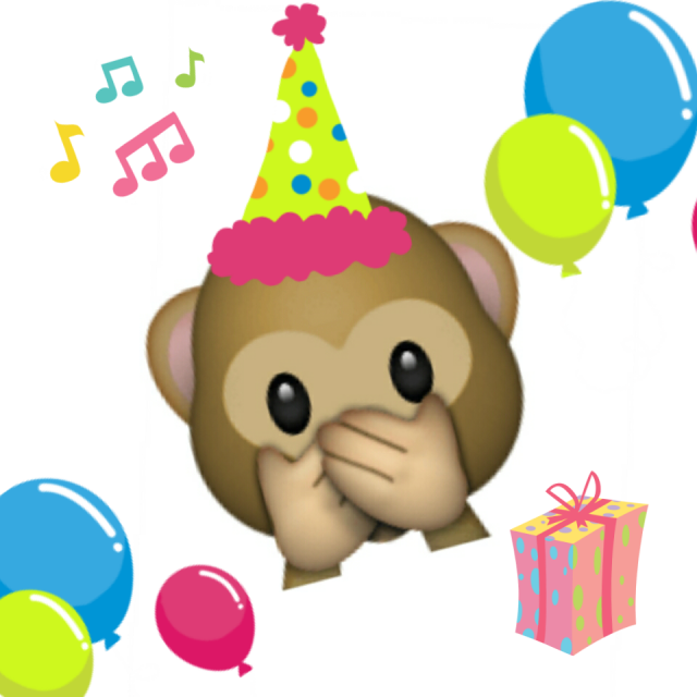 Birthday Emoji – monkey