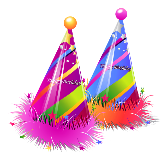 Birthday Emoji – party hats