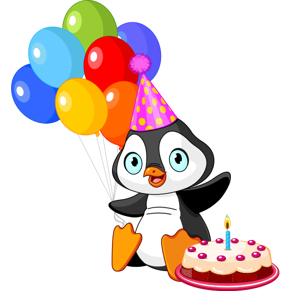 Birthday Emoji – penguin icon