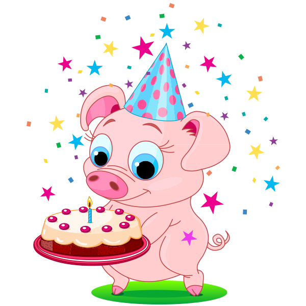 Birthday Emoji – piggy