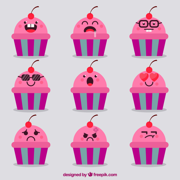 Birthday Emoji – pinky cupcake