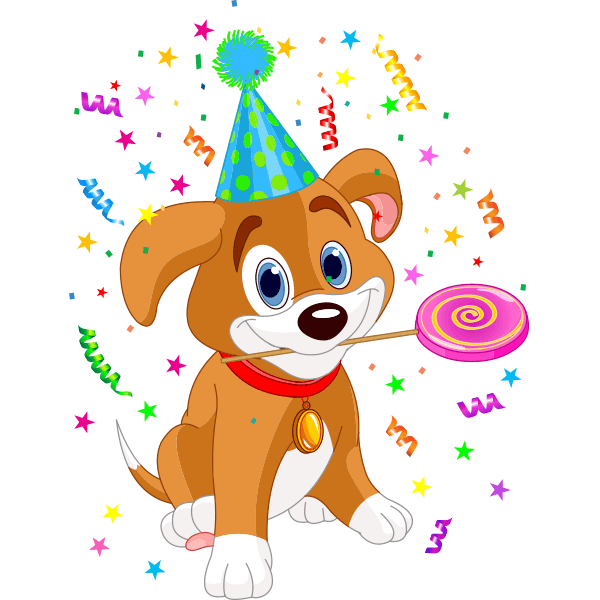 Birthday Emoji – puppy