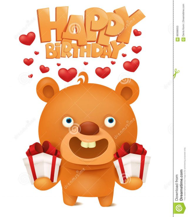 Birthday Emoji – teddy bear