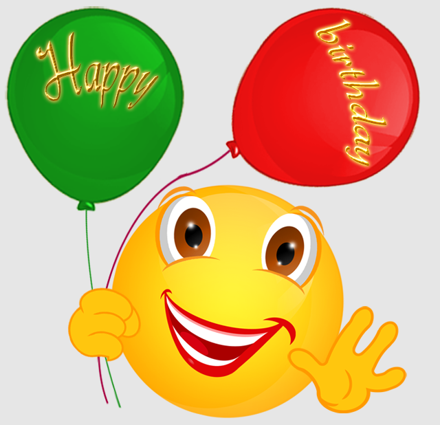 Birthday Emoji with balloons