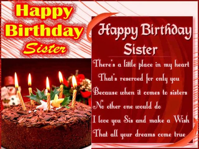 Birthday Wishes For Sister So Cute
