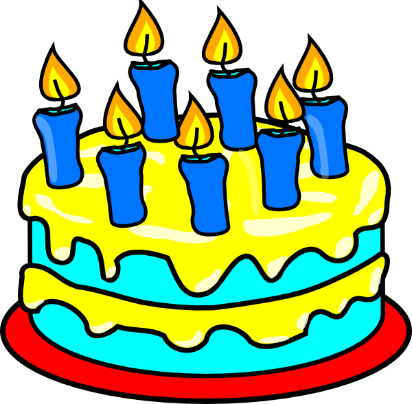 Blue Birthday Cake Clipart