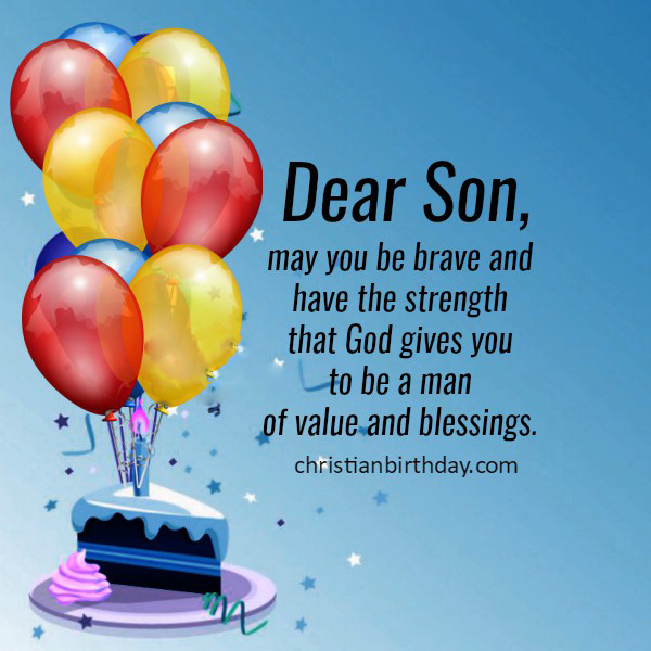 Brave Birthday Wishes for Son with Images