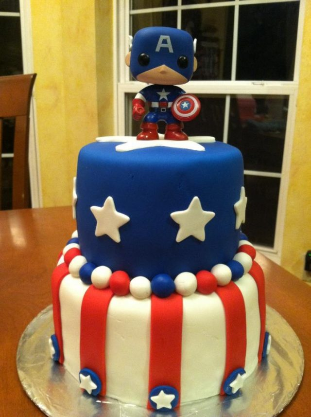 Captain America birthday cake ideas