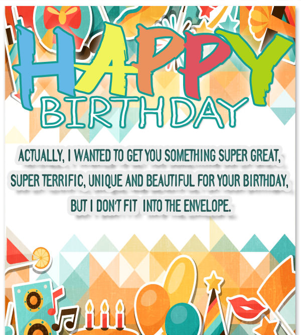 Colorful Funny Birthday Messages