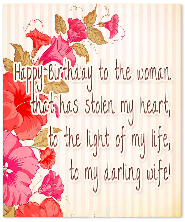 Cute Birthday Wishes for Wife with Images