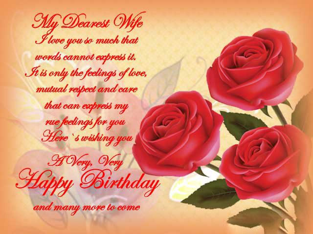 Dearest Birthday Wishes for Wife with Images