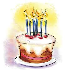 Drawing Birthday Cake Clipart