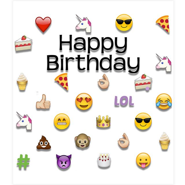 emoji happy birthday - photo #35